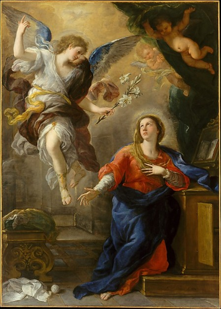 Luca Giordano (Nápoles, 18out1634–10jan1705) - L´Annunciazione (The Annunciation), 1672, óleo sobre tela, New York: The Metropolitan Museum of Art